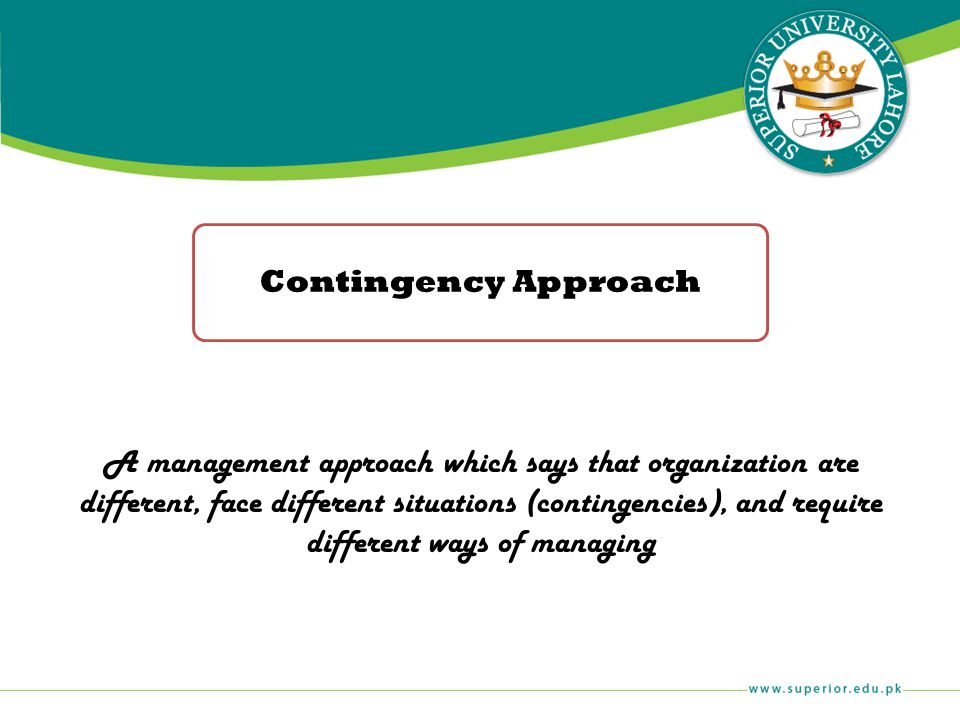 Contingency Approach