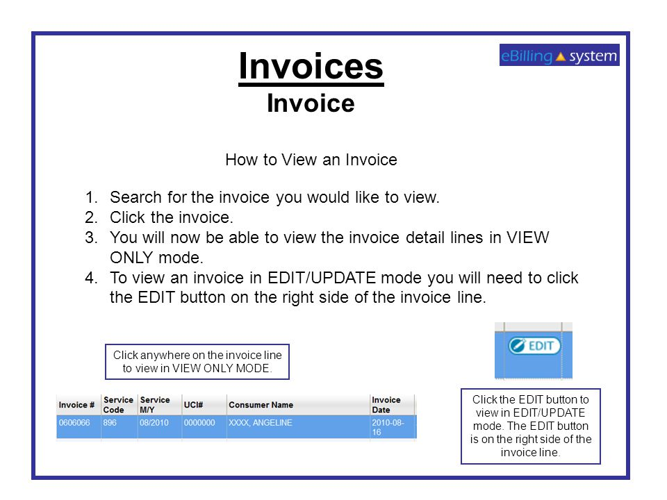 EBilling Training Invoicing Ppt Video Online Download - Invoice 3