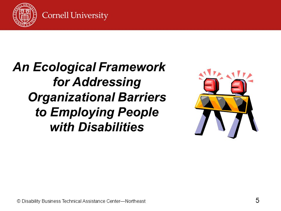 An Ecological Framework for Addressing Organizational Barriers to Employing People with Disabilities