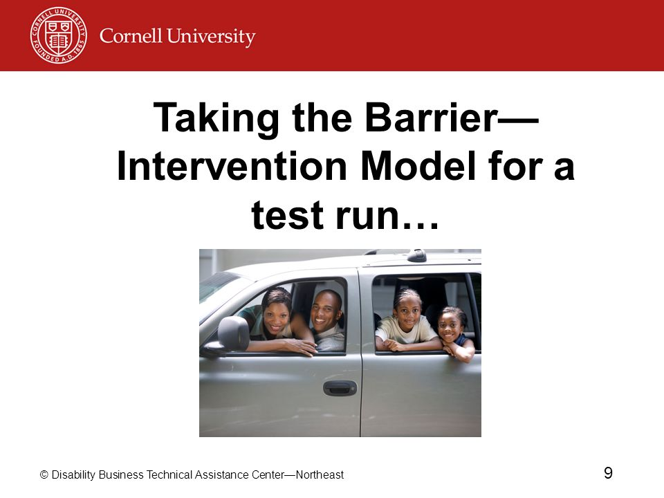 Taking the Barrier—Intervention Model for a test run…