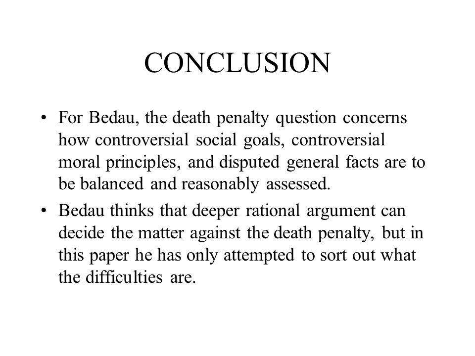 conclusion about death penalty