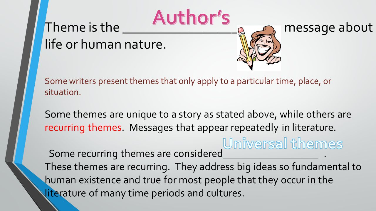 Theme and Symbol. - ppt video online download