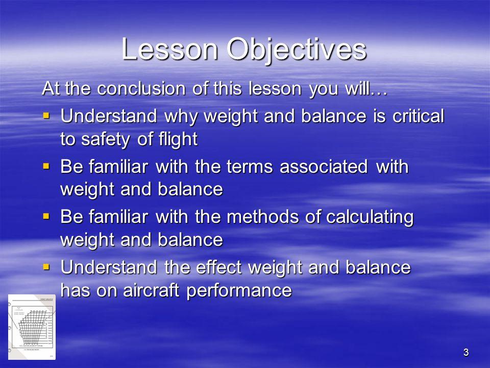 Chapter 9 weight & balance presentation.