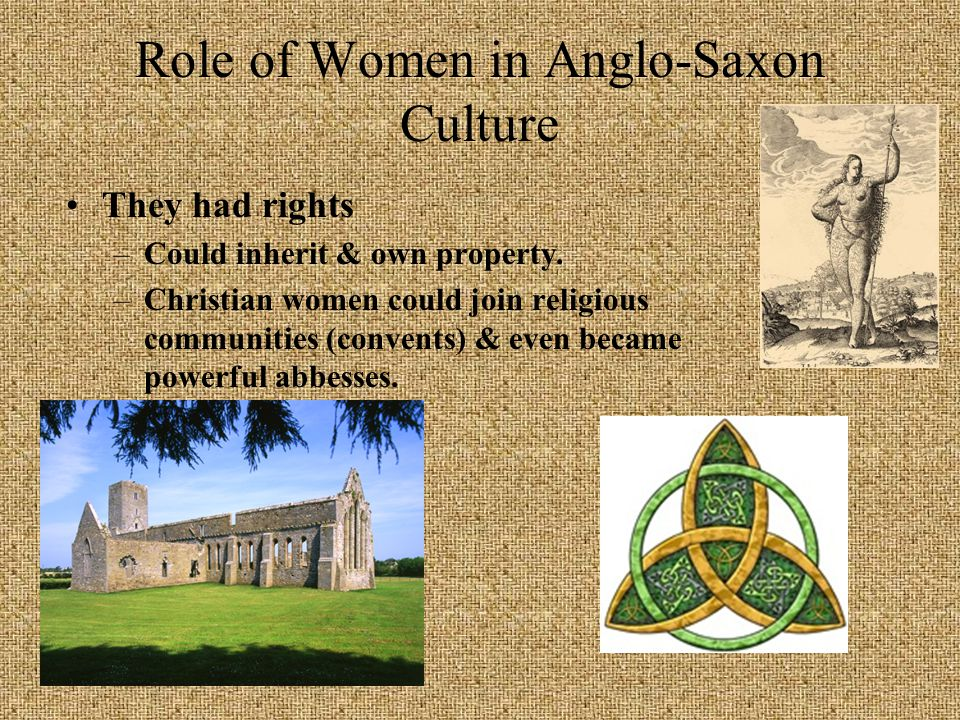 an aspect of anglo saxon culture