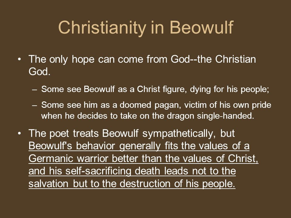 beowulf and christianity
