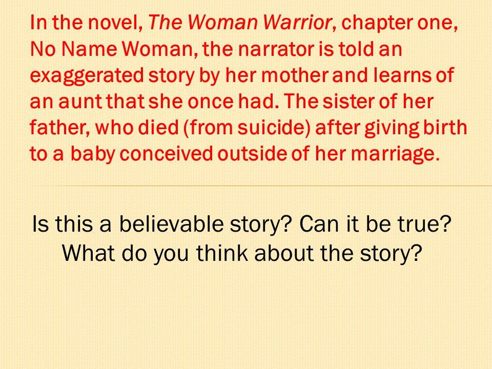 The Woman Warrior Understanding the mother/daughter