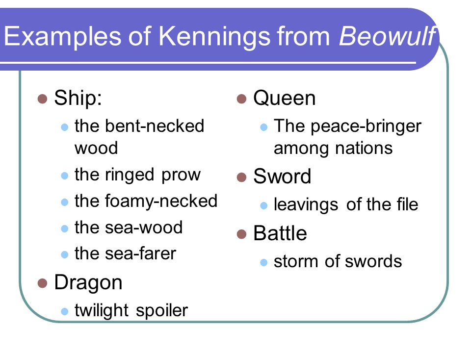 examples of kennings from beowulf