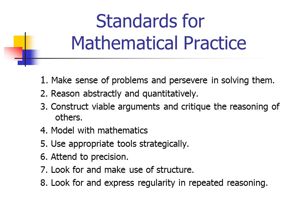 Understanding the Common Core State Standards in Mathematics (CCSSM ...