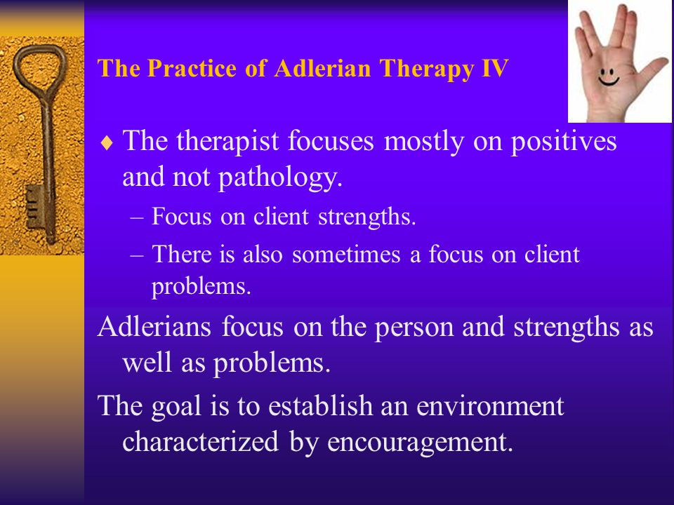 strengths of adlerian therapy