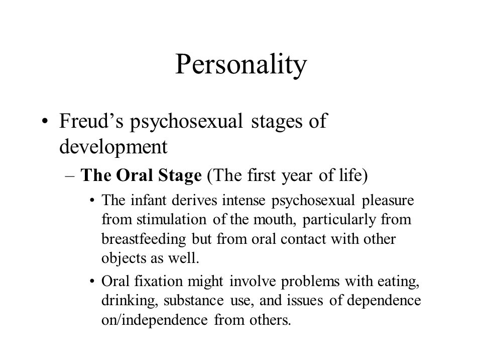 Oral stage fixation personality