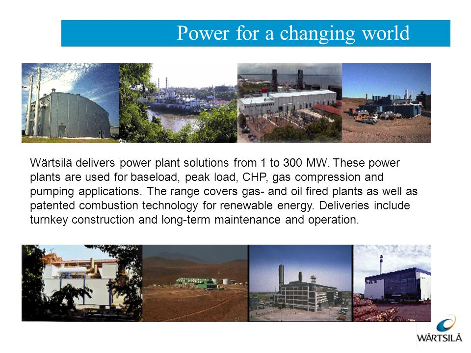 Power for a changing world