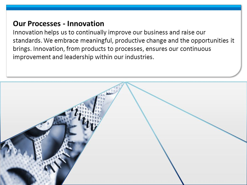 Our Processes - Innovation