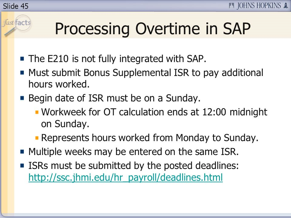 Processing Overtime in SAP