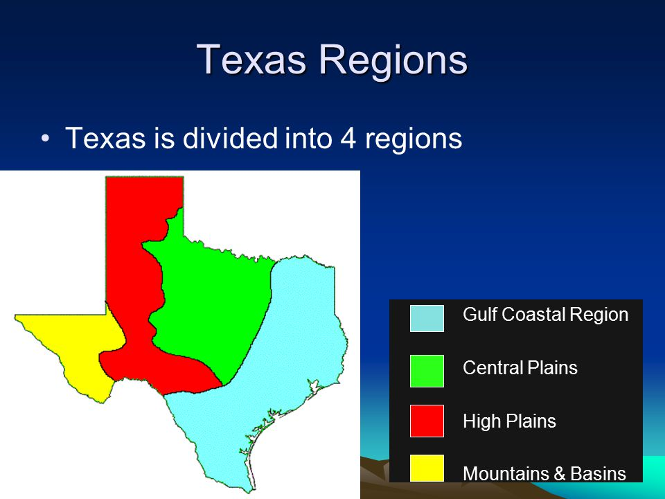 Map Of Texas 4 Regions.Symbols From Ppt Download