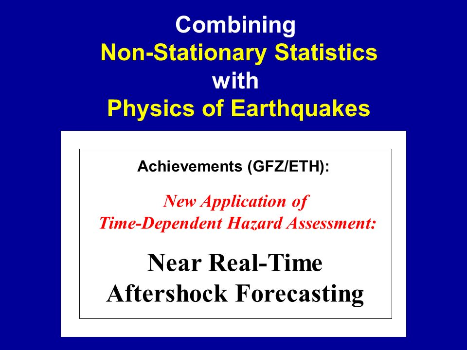 Near Real-Time Aftershock Forecasting
