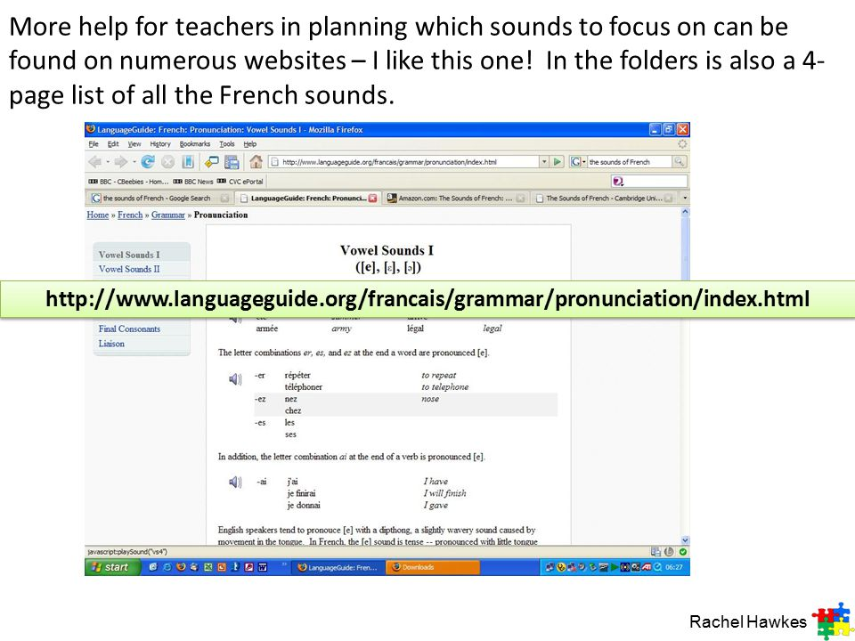Primary Languages Session   Ppt Download More Help For Teachers In Planning Which Sounds To Focus On Can Be Found On  Numerous