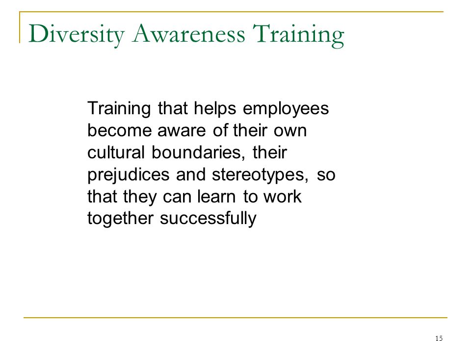 Diversity Awareness Training