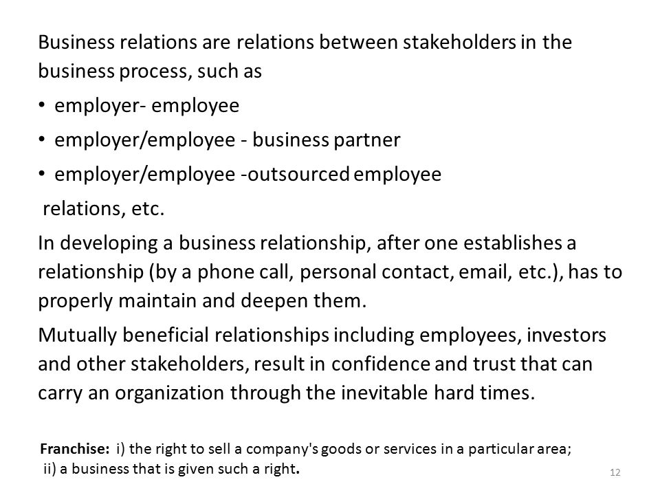 mutually beneficial relationship in business