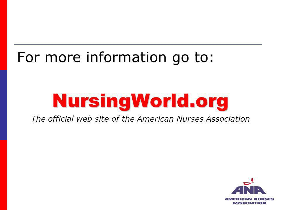 The official web site of the American Nurses Association