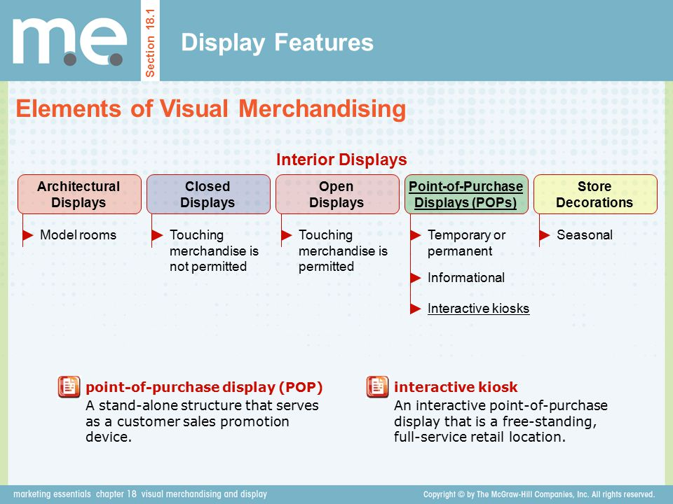 Architectural Displays Point-of-Purchase Displays (POPs)