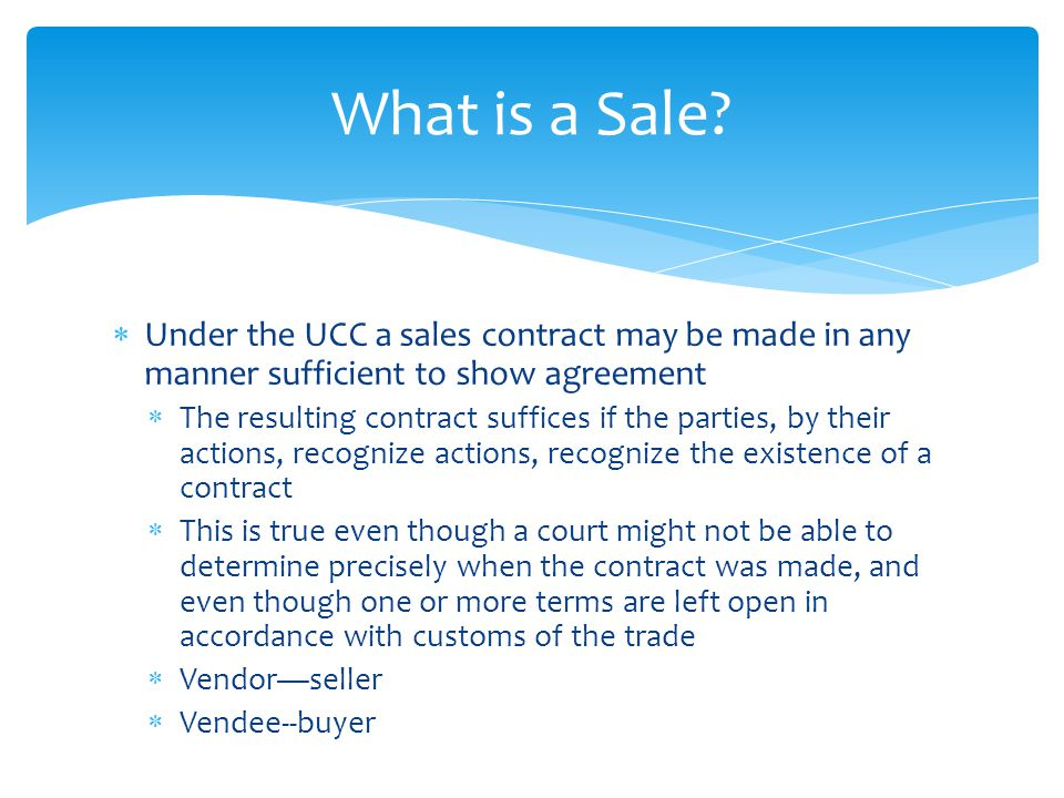 Sales Contracts Chapter ppt download