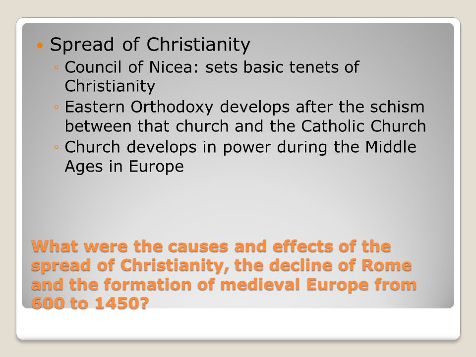 effects of christianity on rome