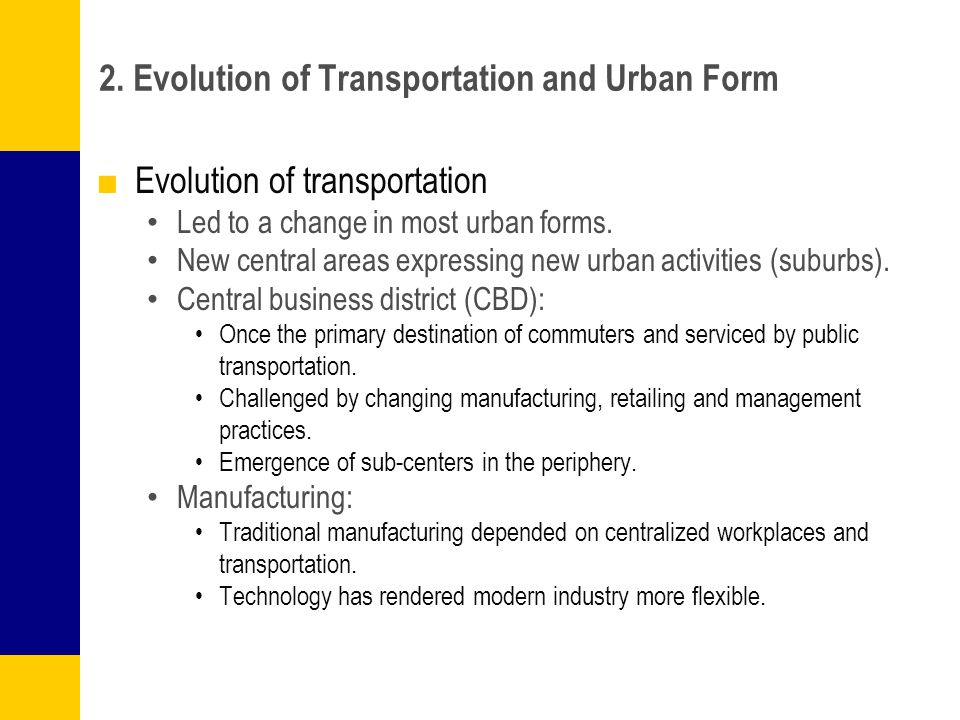 evolution of transportation technology