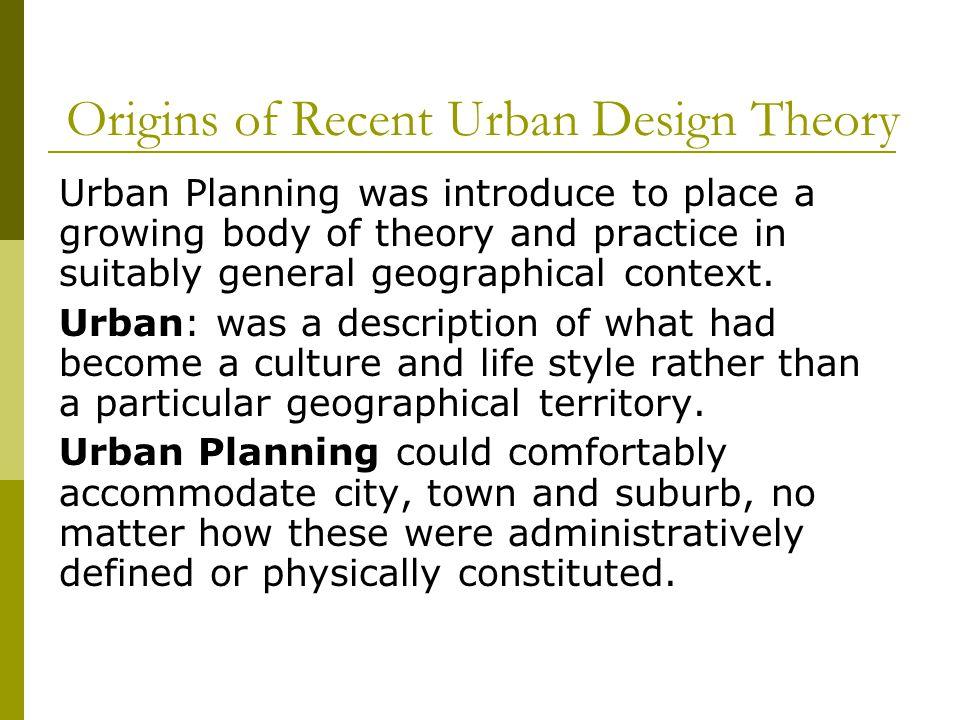 The Scope of Urban Design