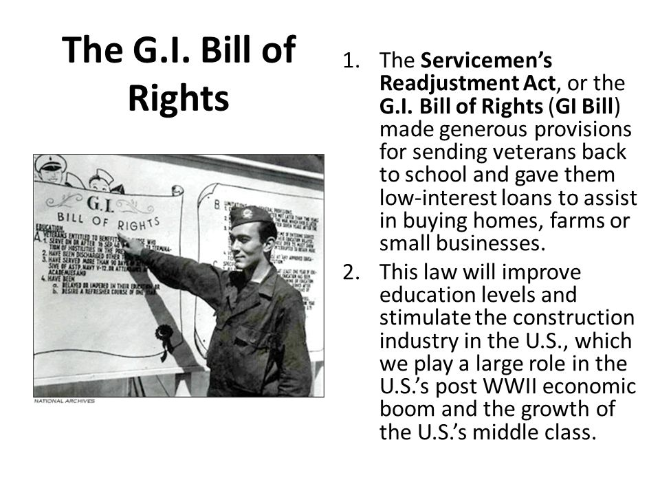 gl bill of rights