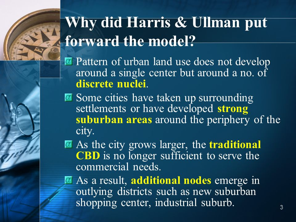 Why did Harris & Ullman put forward the model
