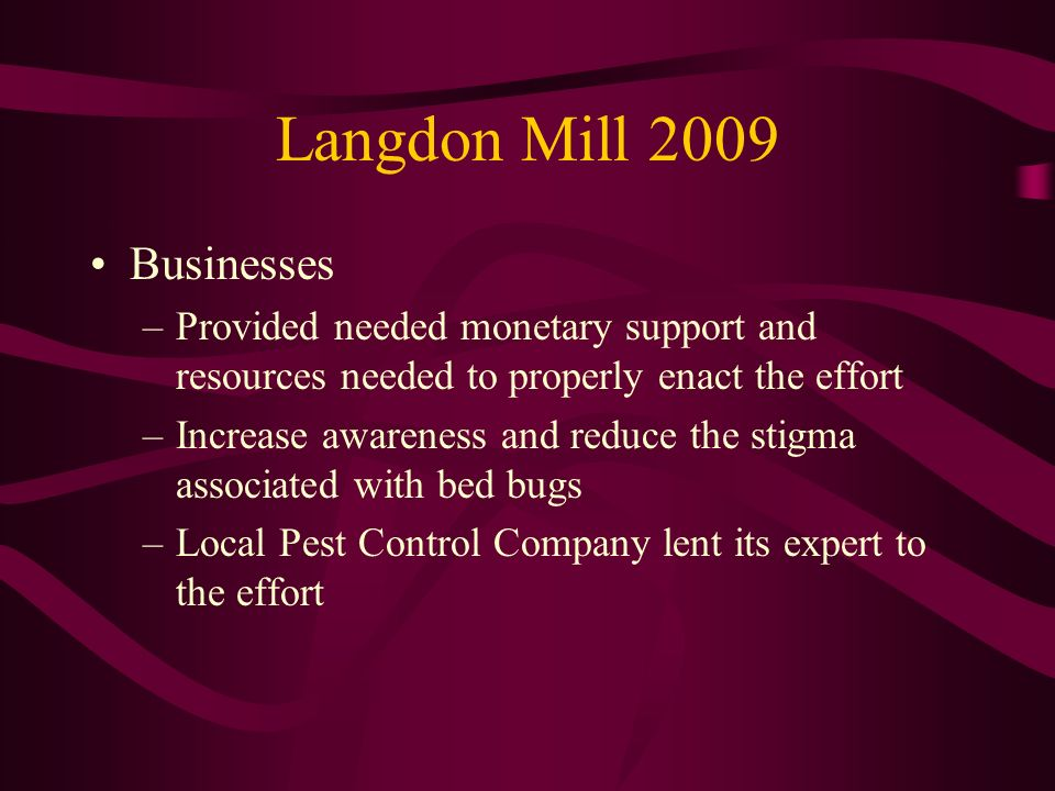 Langdon Mill 2009 Businesses