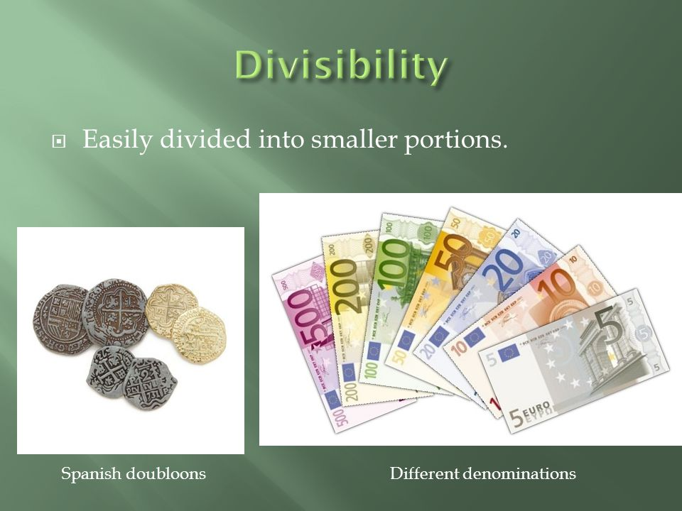 Different denominations