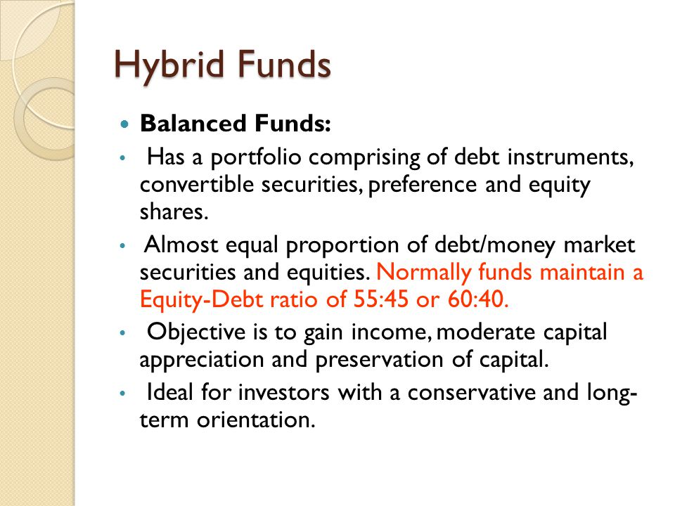 Hybrid Funds Balanced Funds: