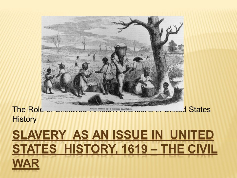 thesis statement on african american slavery Essay on slavery: free examples of essays, research and term papers examples of slavery essay topics, questions and thesis satatements.