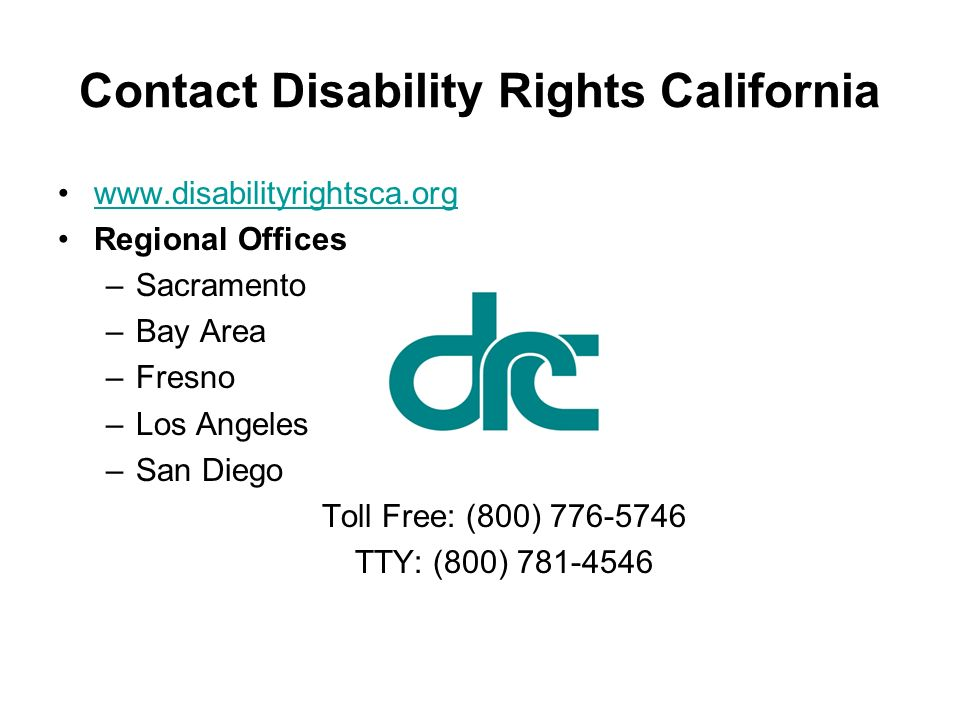 Contact Disability Rights California