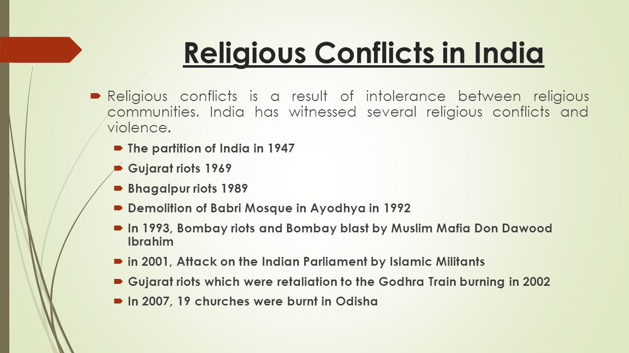 religion and conflicts Unique religious and cultural identities are not the source of present conflict and should not be eliminated all that must be controlled is the use of people's unique identities as a means of erecting barriers.
