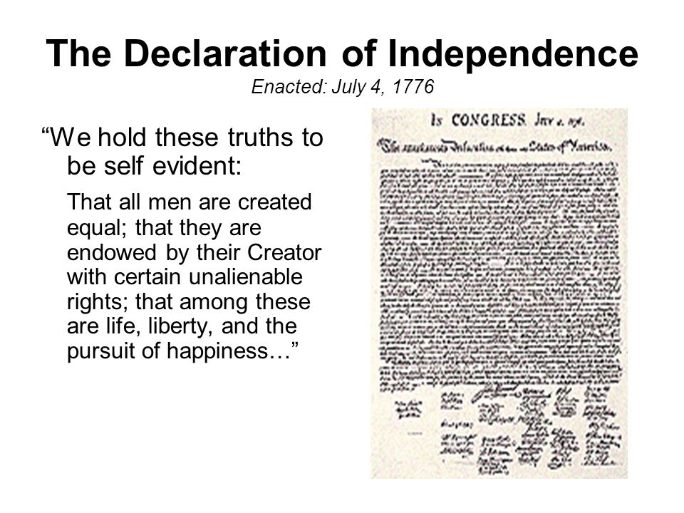 Image result for declaration of independence enacted