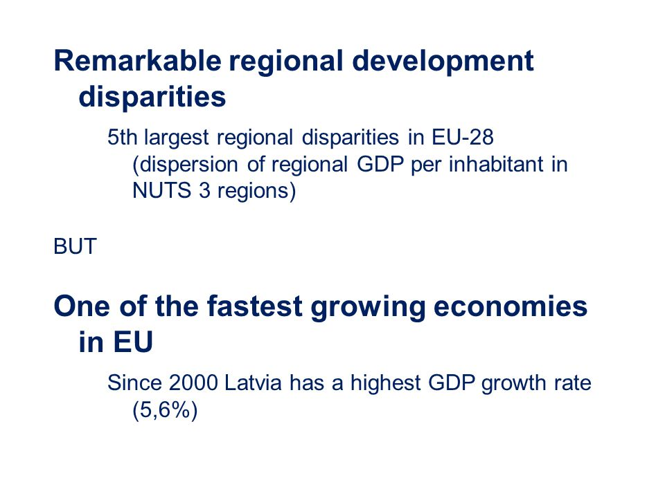 Remarkable regional development disparities