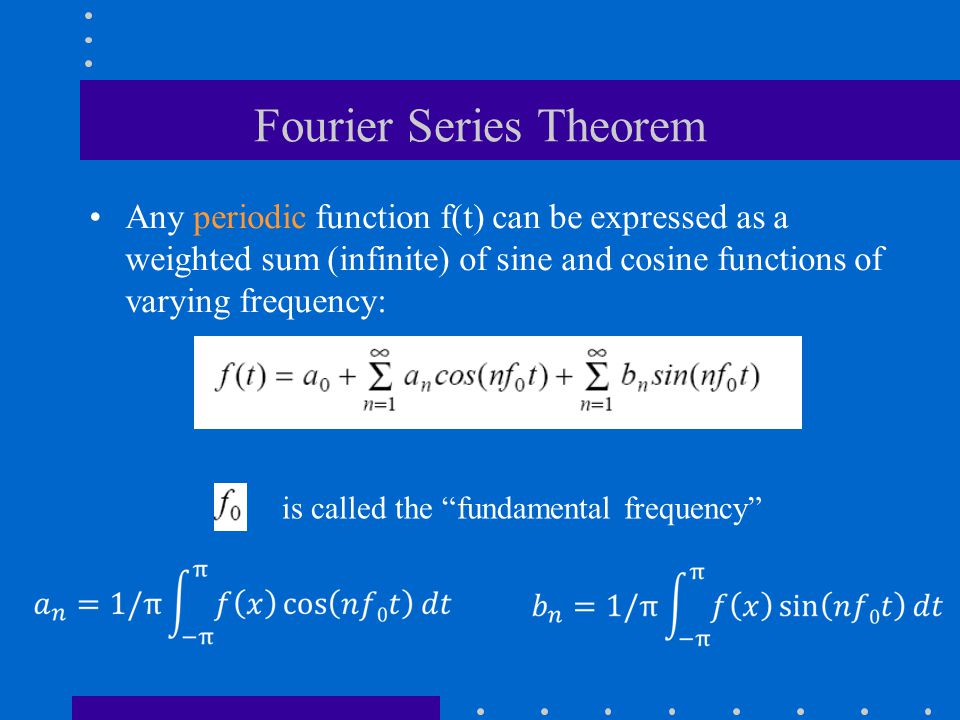 Fourier Series Theorem