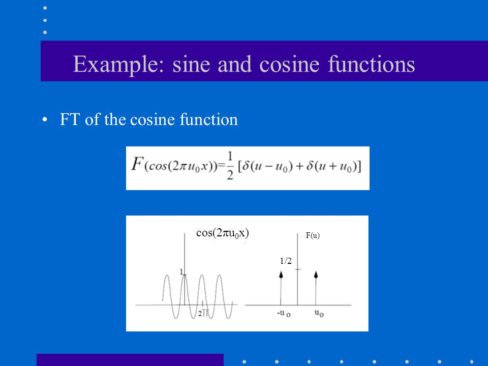Example: sine and cosine functions