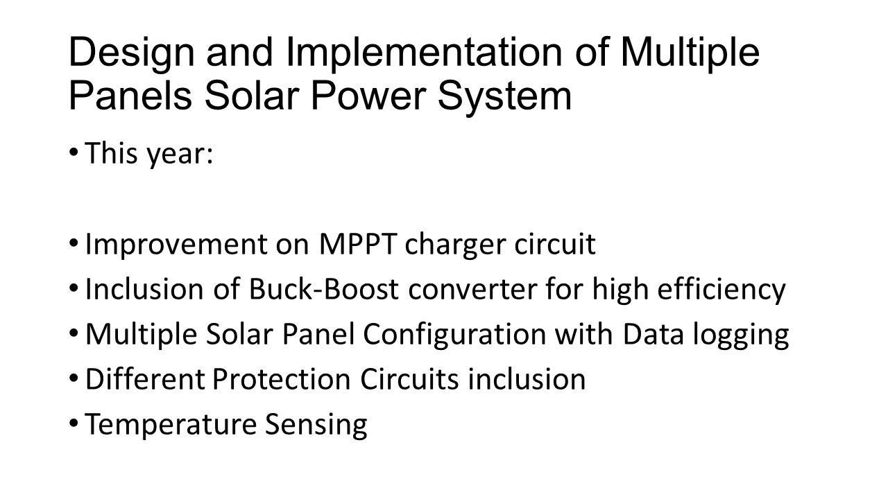 Viit Grapes Collaboration Ppt Download Solar Panel Charger Circuit Design And Implementation Of Multiple Panels Power System