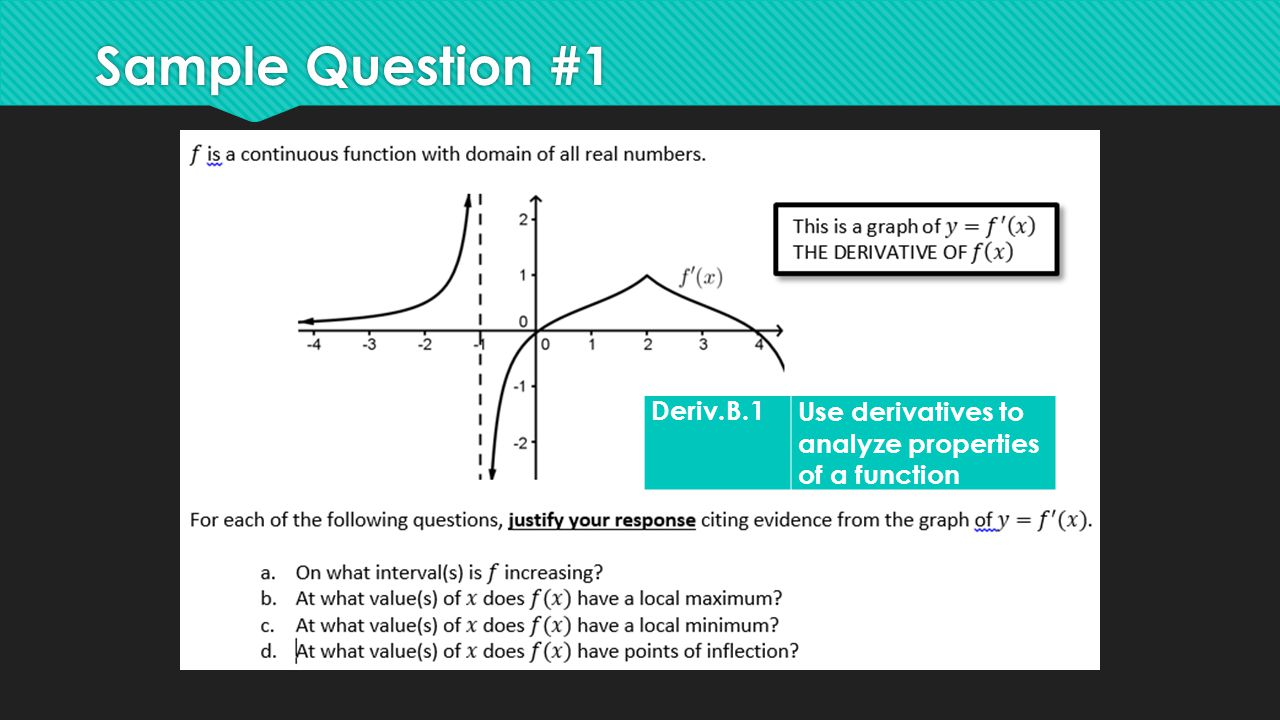 Sample Question #1 Deriv.B.1