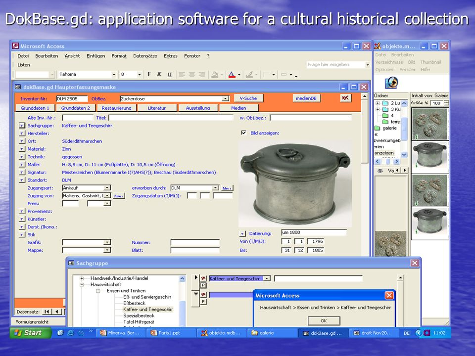 DokBase.gd: application software for a cultural historical collection