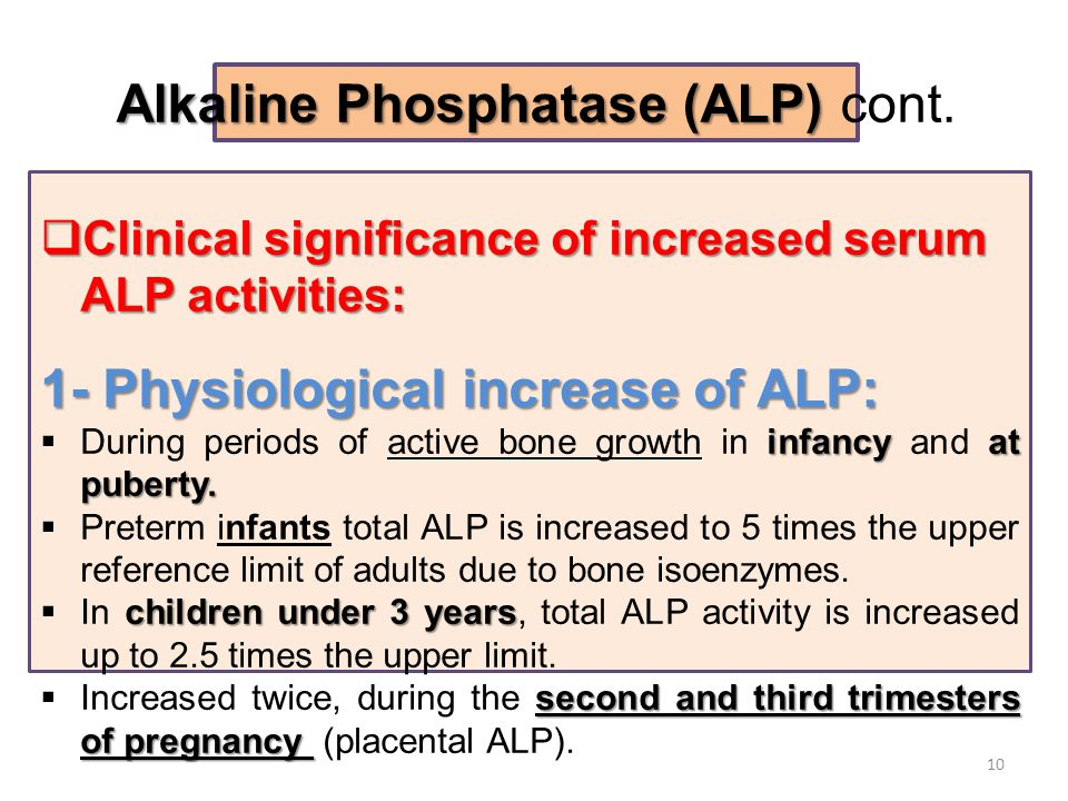 Increased alkaline phosphatase: what does it mean