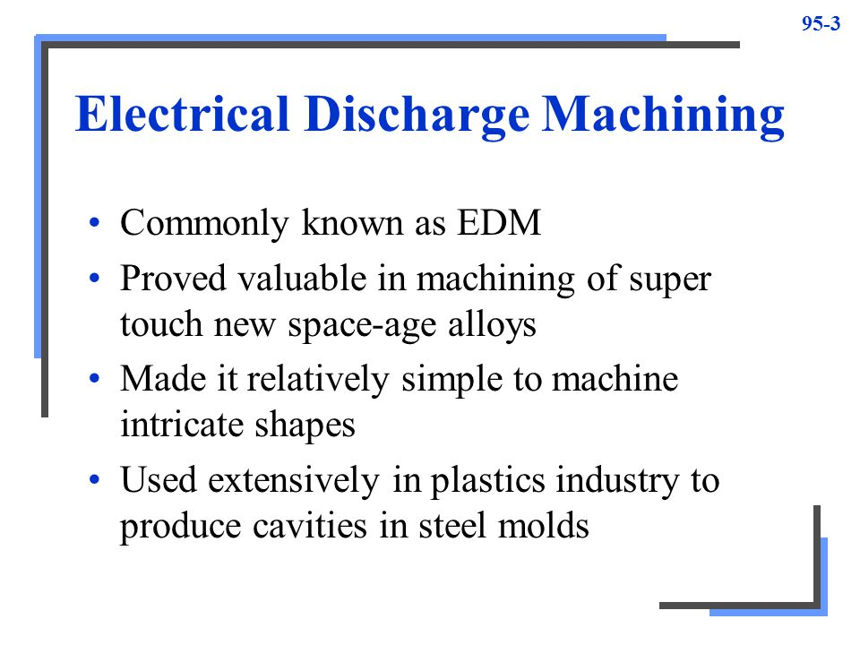 Electric discharge machining (edm) ppt video online download.