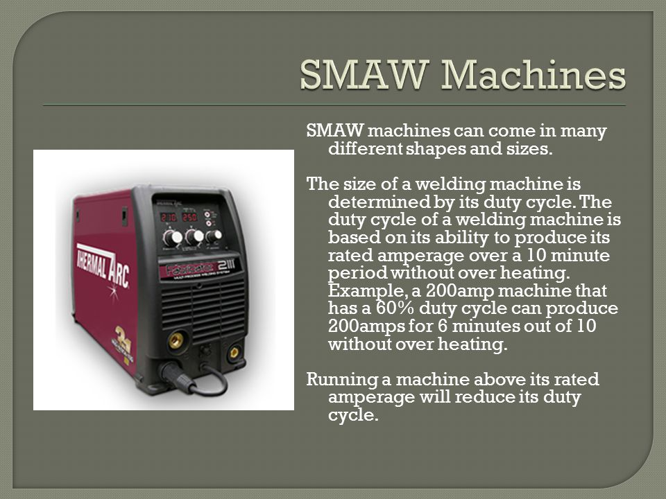 SMAW Machines