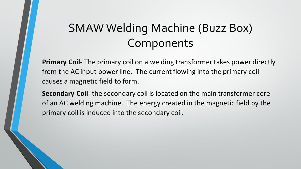 SMAW Welding Machine (Buzz Box) Components