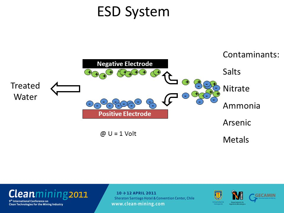 ESD System Contaminants: Salts Nitrate Ammonia Treated Water Arsenic