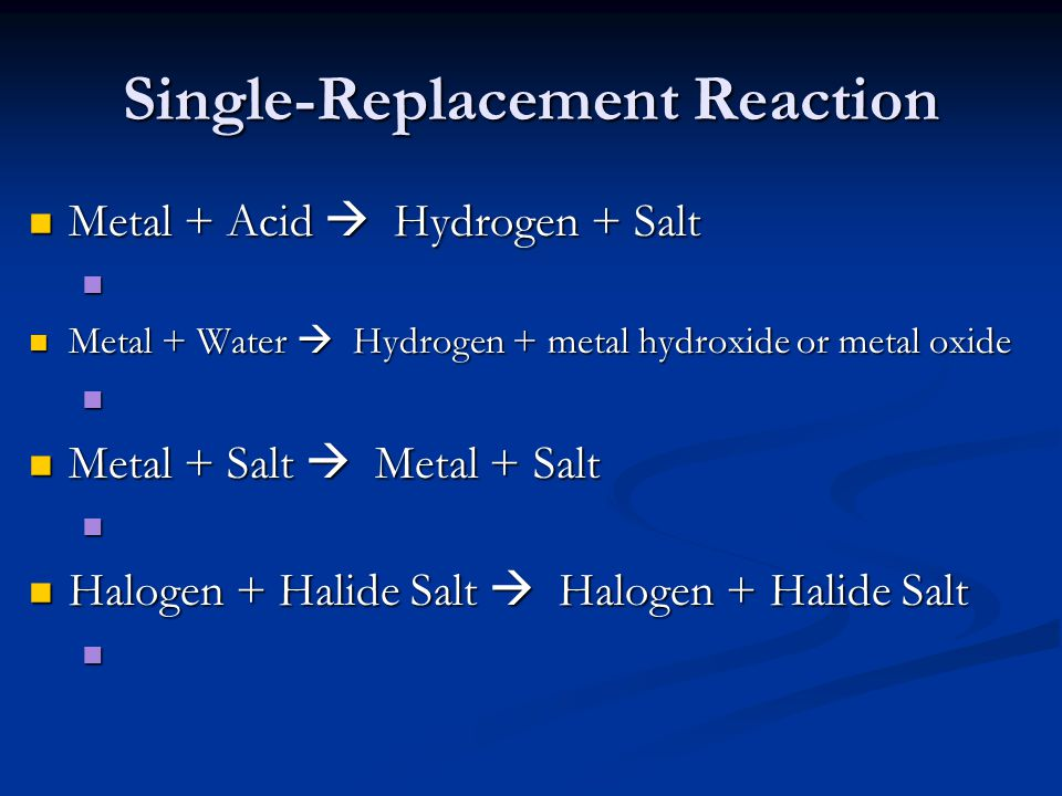 Single-Replacement Reaction