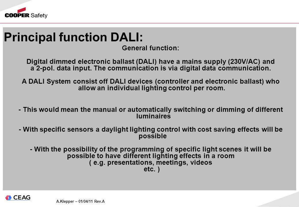 Digital Adressable Lighting Interface (Basic information) - ppt